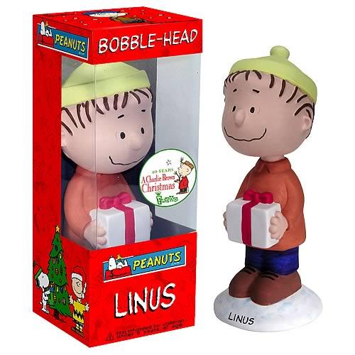 Peanuts Linus Christmas Bobblehead