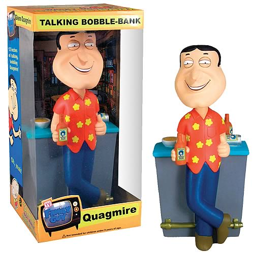 Family Guy Quagmire Bar 12-Inch Bobble Bank with Sound