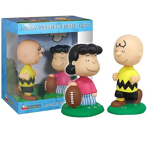 Peanuts Charlie Brown & Lucy Football Bobble Heads