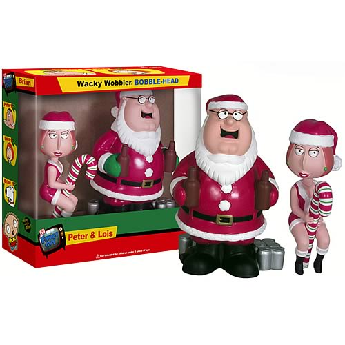 Family Guy Peter & Lois Christmas Bobble Heads