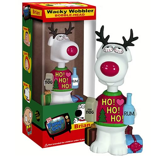Family Guy Brian Christmas Bobble Head