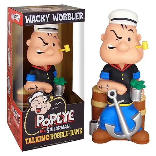 Popeye 12-Inch Talking Bobble Bank