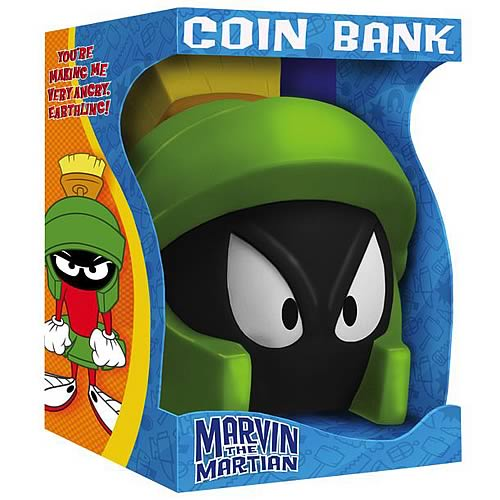 Duck Dodgers Marvin the Martian Helmet Bank