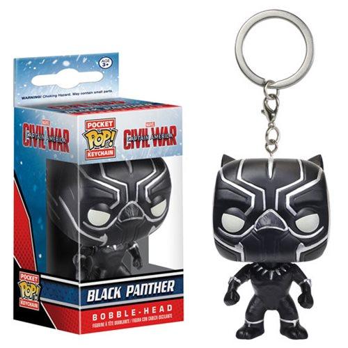 Captain America  Black Panther Pocket Pop! Key Chain