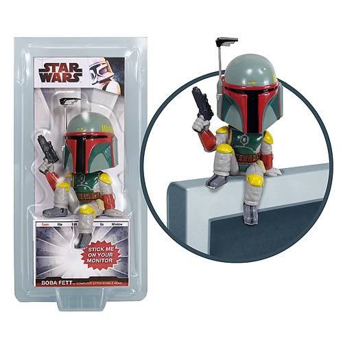 Star Wars Boba Fett Computer Sitter Bobble Head