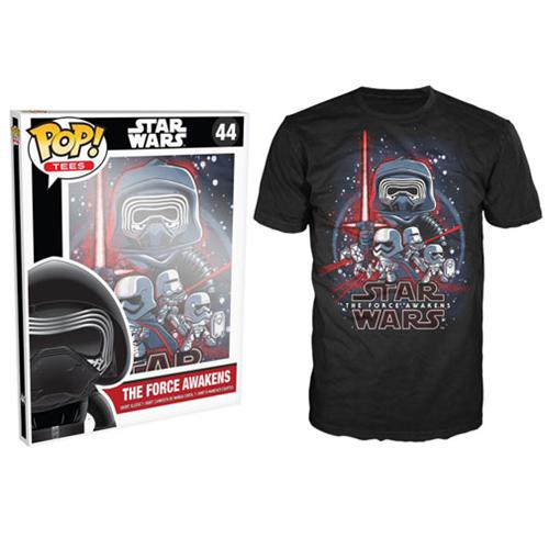 Star Wars: Episode VII Poster Black Pop! T-Shirt