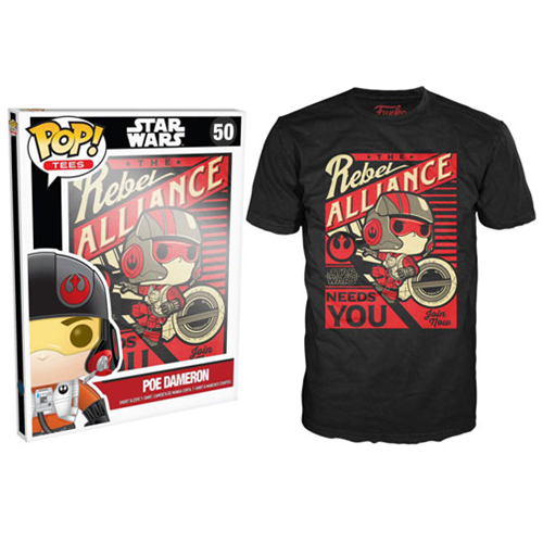 Star Wars: Episode VII Poe Propaganda Black Pop! T-Shirt