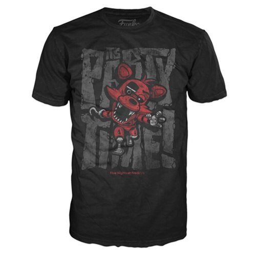 Five Nights at Freddy's Foxy Party Time Black T-Shirt