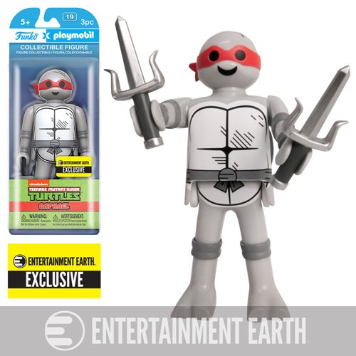 TMNT Raphael Black and White Playmobil Figure - EE Exclusive