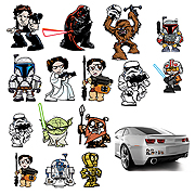 Star Wars Heroes and Villains Family Graphics