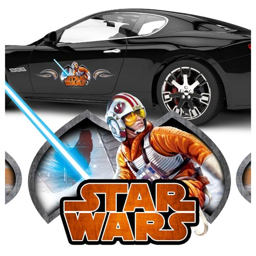 Star Wars Luke Skywalker Action Series Vehicle Graphic