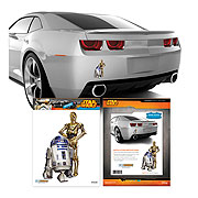 Star Wars C 3PO and R2 D2 Mini Vehicle Graphic