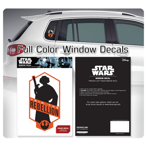 Star Wars Princess Leia Join the Rebellion Window Decal