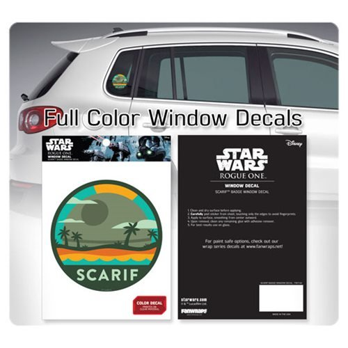 Star Wars Death Star over Scarif Badge Window Decal