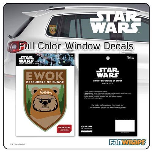 Star Wars Ewok Defenders of Endor Window Decal
