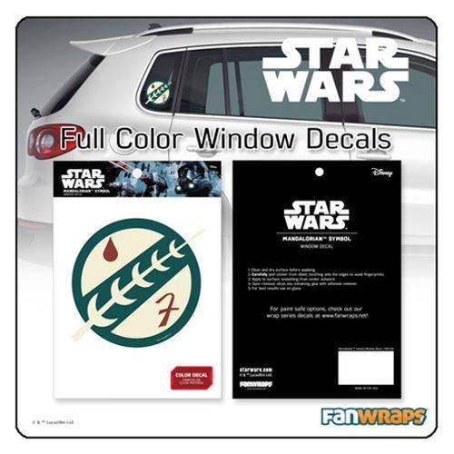 Star Wars Mandalorian Insignia Window Decal
