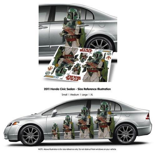 Star Wars Boba Fett FanWraps Car Decal - Fanwraps - Star ...