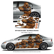 Star Wars Chewbacca FanWraps Car Decal