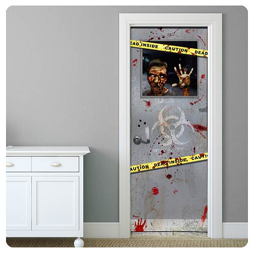 Zombie Door Wrap Gory Gary Wall Decal