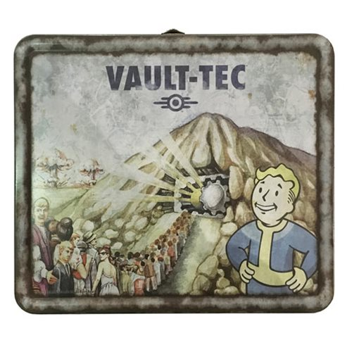 Fallout Vault-Tec Weathered Tin Tote Prop Replica