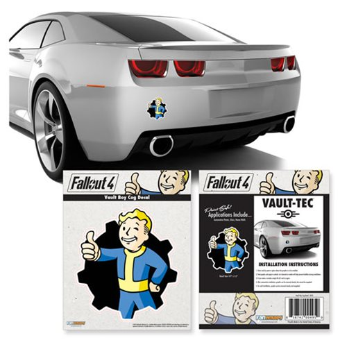 Fallout Vault Boy Cog Vinyl Decal