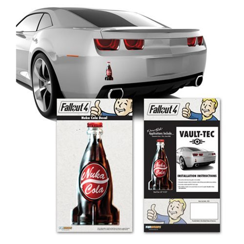 Fallout 4 nuka cola bottle vinyl decal fanwraps for Fallout 4 mural