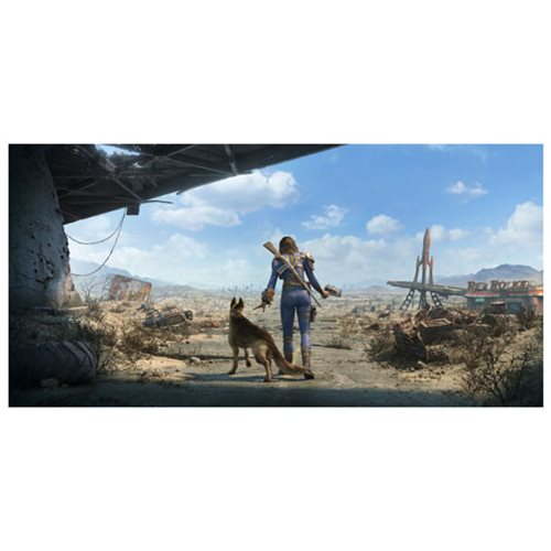 Fallout 4 sole survivor and dogmeat female key art wall for Fallout 4 mural
