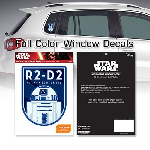 Star Wars R2-D2 Astromech Droid Badge Window Decal