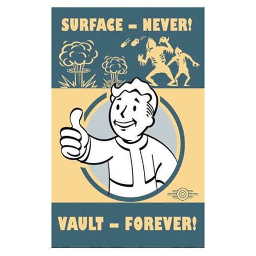 Fallout Surface Never Vault Forever Tin Sign Prop Replica