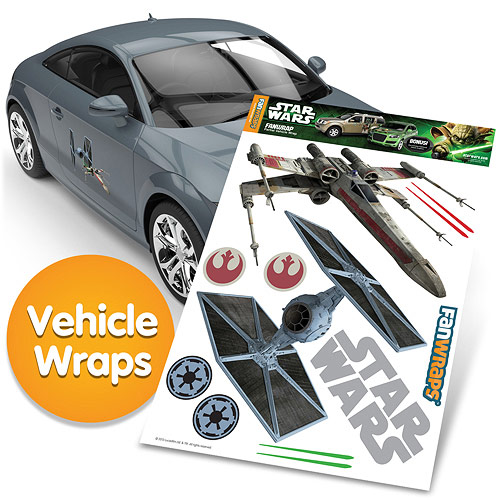 Star Wars TIE Fighter and X-Wing FanWraps Car Decals