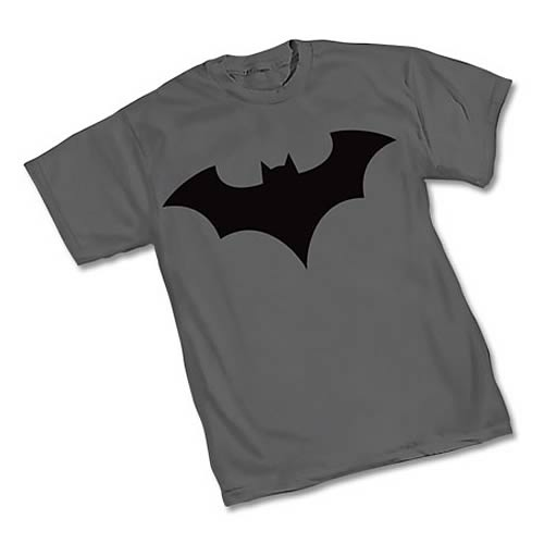 Batman New 52 Symbol Gray T-Shirt