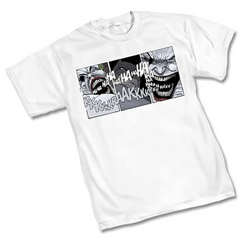 Batman Dark Knight Comic Strip Joker White T-Shirt