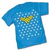 Wonder Woman Starfield Symbol Blue T-Shirt