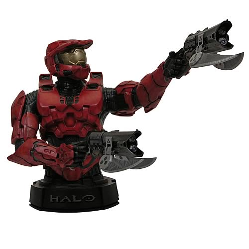 Halo 3 Red Master Chief Mini-Bust
