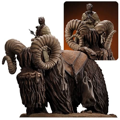 Star Wars Bantha and Tusken Raider Statue Sculpture