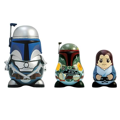 Star Wars Chubbies Series 2 Jango and Boba Fett Dolls