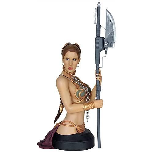 Star Wars Slave Leia in Metal Bikini Mini Bust