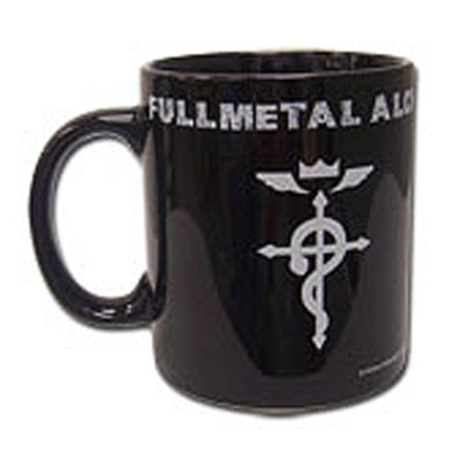 Fullmetal Alchemist Icon 11 oz. Black Ceramic Mug