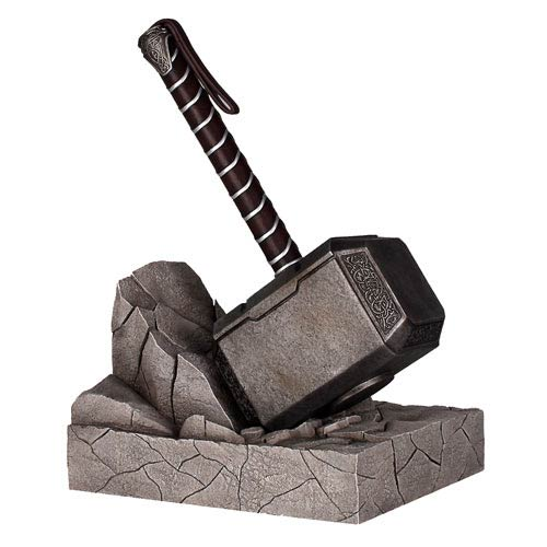 Thor Mjolnir Hammer Bookend Statue