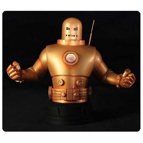 Iron Man Mark II Gold Armor Mini Bust