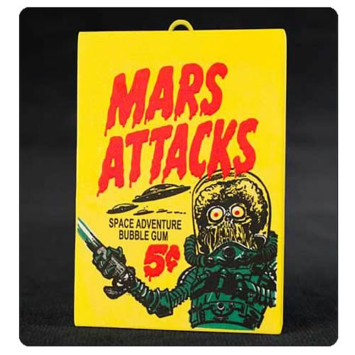 Mars Attacks! Topps Trading Card Pack Ornament