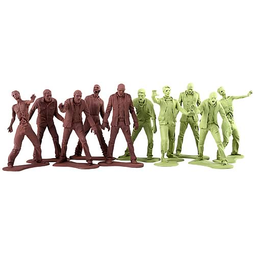 The Walking Dead Zombie Army Men Mini-Figure 10-Pack