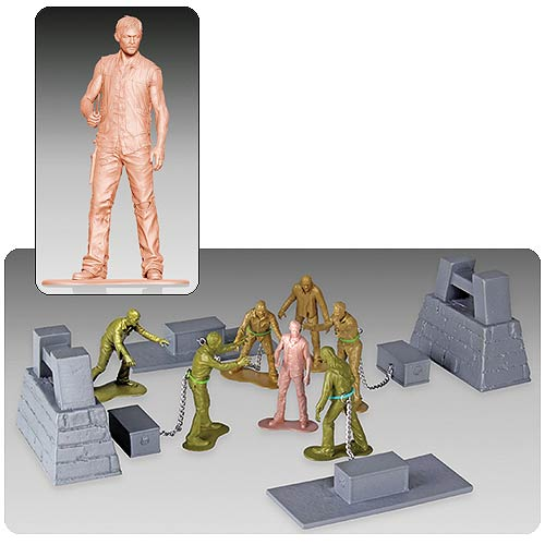 Walking Dead Zombie Army Men Series 2 Woodbury Arena Set
