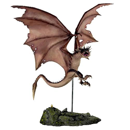 Harry Potter Hungarian Horntail Dragon Statue