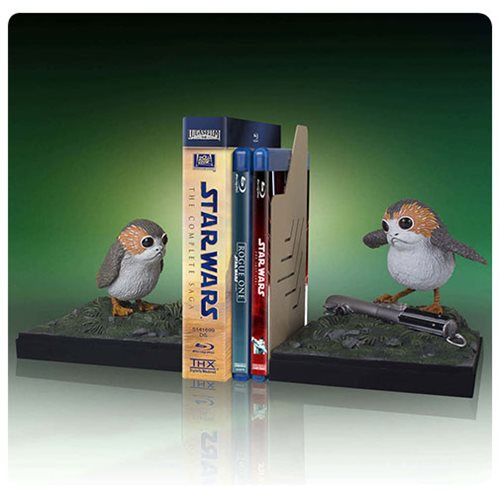 Star Wars Porg Bookends Statue, Not Mint