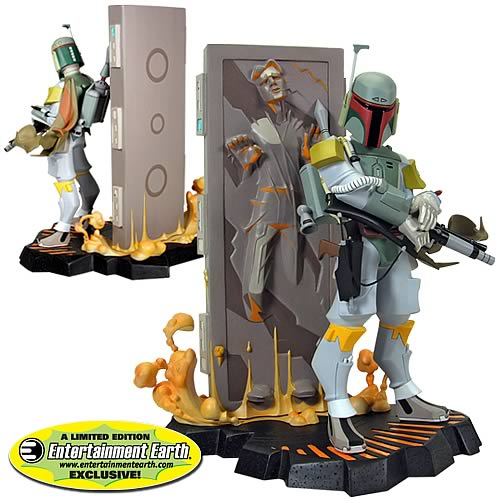 Star Wars Boba Fett and Carbonite Maquette EE Exclusive Case