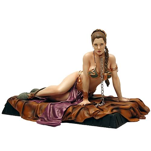 Deal With The Hutt: Star Wars Princess Leia As Jabba's Slave Statue