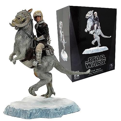 Star Wars Han Solo on Tauntaun Statue