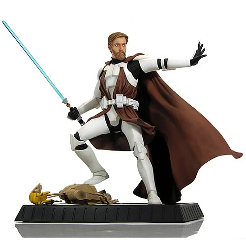 Star Wars Obi-Wan Kenobi in Clone Trooper Armor Statue