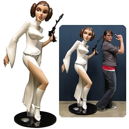 Star Wars Animated Lifesize Princess Leia Monument